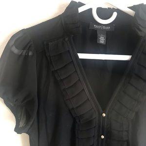 White House Black Market short sleeve blouse